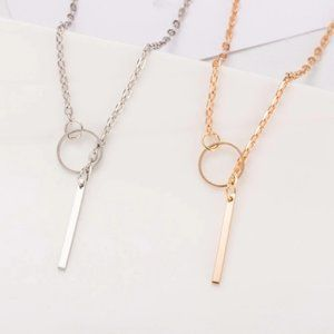 Urban Outfitters Jewelry - Minimalist Lariat Necklace (Gold)